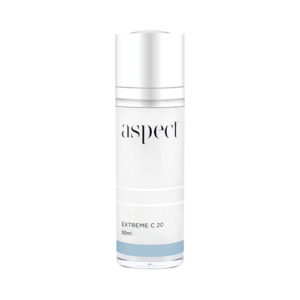 Aspect Extreme C20 | Vitamin C Serum | Beauty Studio Dunsborough. Antioxidant serum containing Vitamin C and peptides tohelp promote skin elasticity