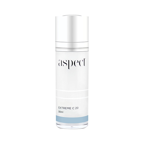 Aspect Extreme C20 | Vitamin C Serum | Beauty Studio Dunsborough. Antioxidant serum containing Vitamin C and peptides tohelp promote skin elasticity